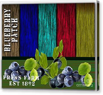 Blueberry Patch Canvas Print by Marvin Blaine