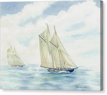 Bluenose Canvas Print - #1 Bluenose by Robert Boast Cornish