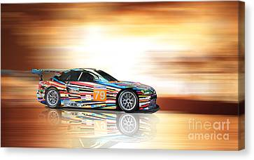 Bmw M3 Art Car Canvas Print by Roger Lighterness