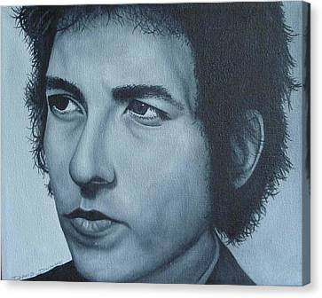 Canvas Print featuring the painting Bob Dylan by David Dunne