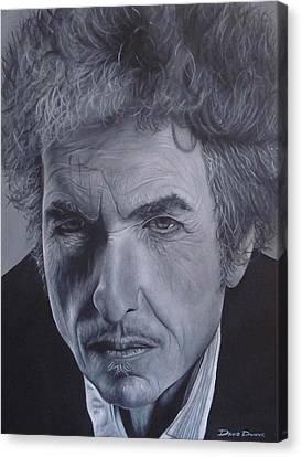 Bob Dylan IIi Canvas Print by David Dunne