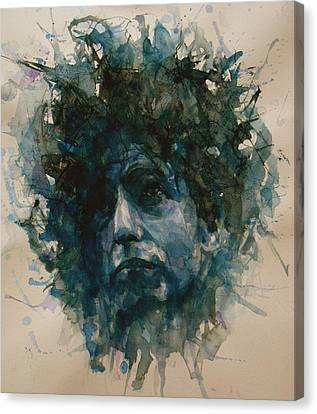Bob Canvas Print - Bob Dylan by Paul Lovering
