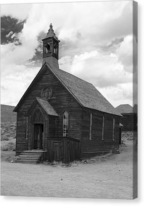 Canvas Print featuring the photograph Bodie Church by Jim Snyder
