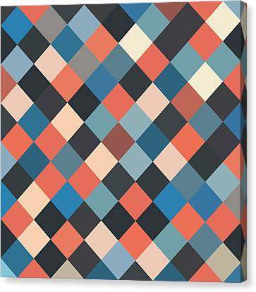 Bold Geometric Print Canvas Print
