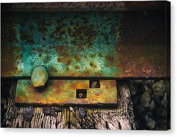 Not In Use Canvas Print - Bolted by Karol Livote
