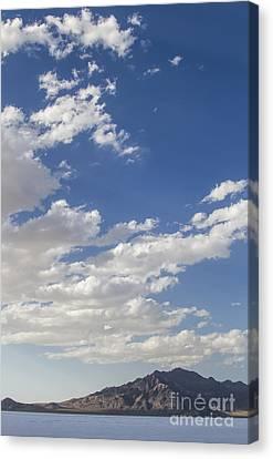 Bonneville Salt Flats Landscape Canvas Print by Holly Martin