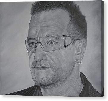 Canvas Print featuring the painting Bono by David Dunne
