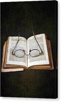 Reading Canvas Print - Book With Glasses by Joana Kruse