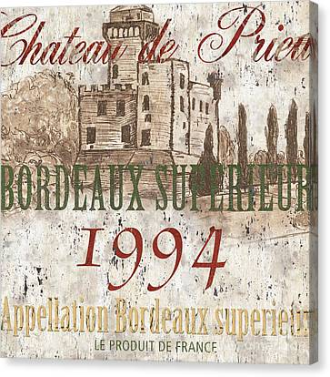 Bordeaux Blanc Label 2 Canvas Print