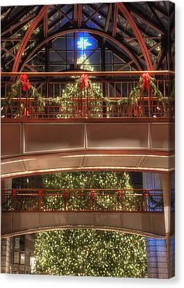 Boston Christmas Tree Card Canvas Print