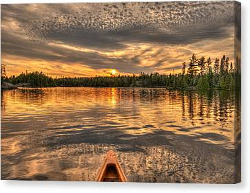 Boundary Waters Sunset  Canvas Print by Shane Mossman