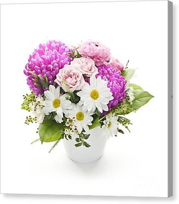 Bouquet Of Flowers Canvas Print by Elena Elisseeva