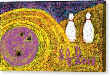 Bowling Canvas Print by Joe Dillon