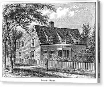 Bowne House, 1661 Canvas Print by Granger