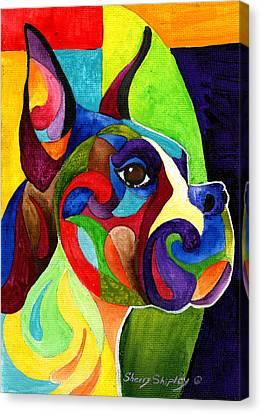 Boxer Canvas Print by Sherry Shipley