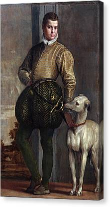 Boy With A Greyhound Canvas Print by Paolo Veronese