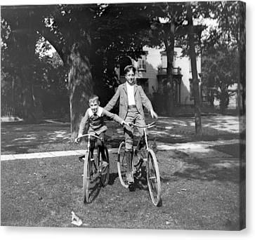 Boys And Bikes Canvas Print