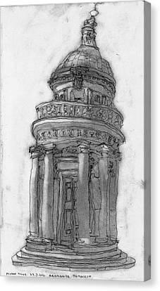 Bramante Tempietto Sketch Canvas Print by Mikko Tilus