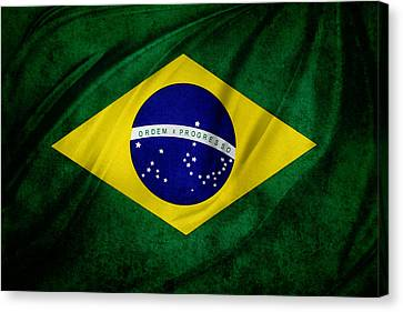 Brazilian Flag Canvas Print by Les Cunliffe