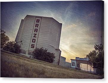 Brazos Drive In Theater Canvas Print by Pair of Spades