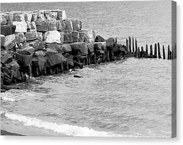 Canvas Print featuring the photograph Breakwater by Ricky L Jones