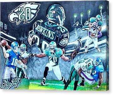 Philadelphia Phillies Stadium Canvas Print - Brian Dawkins by Ezra Strayer