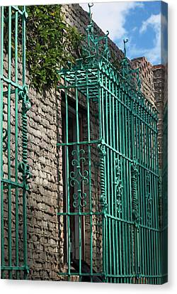 Brick And Iron Work Canvas Print by Suzanne Gaff