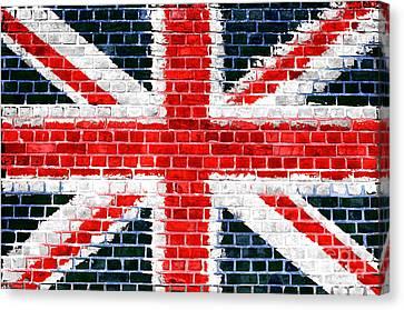 Brick Wall Britain Canvas Print by Antony McAulay