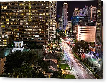 Brickell Ave Downtown Miami  Canvas Print by Michael Moriarty