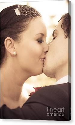 Bride And Groom Kissing Canvas Print by Jorgo Photography - Wall Art Gallery
