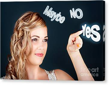 Bride Making Choice In A Marriage Proposal Concept Canvas Print by Jorgo Photography - Wall Art Gallery