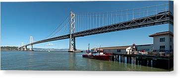 Bridge Across A Bay, Bay Bridge, San Canvas Print