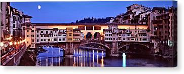 Bridge Across A River, Arno River Canvas Print by Panoramic Images