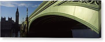 Bridge Across A River, Westminster Canvas Print