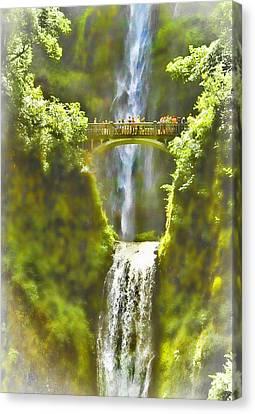Bridge At The Falls Canvas Print