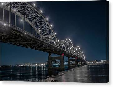 Bridge Lights Canvas Print by Ray Congrove