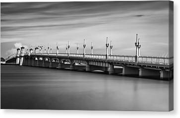 Bridge Of Lions Canvas Print by David Mcchesney