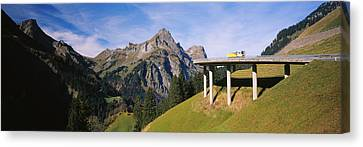Bridge On Mountains, Mountain Pass Canvas Print by Panoramic Images