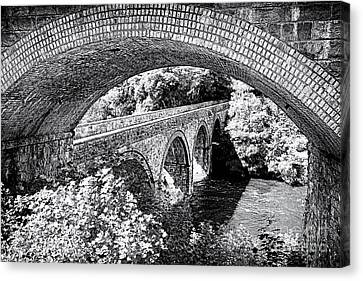 Bridge Under A Bridge Canvas Print by Jane Rix