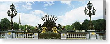 Art Nouveau Style Canvas Print - Bridge With A Tower In The Background by Panoramic Images