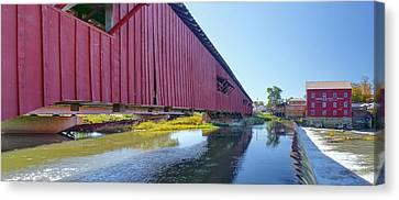 Bridgeton Bridge And Mill Canvas Print by Harold Rau