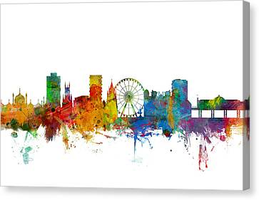 Brighton England Skyline Canvas Print by Michael Tompsett