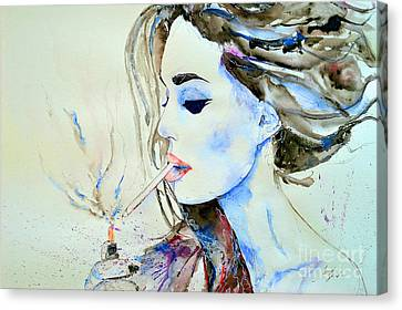 Brigitte Bardot Canvas Print by Ismeta Gruenwald