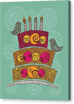 Brithday Cake_hi Res Canvas Print by Valentina Ramos