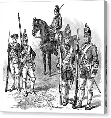 British & Hessian Soldiers Canvas Print by Granger