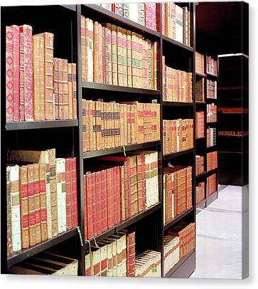 British Library King's Library Canvas Print by British Library