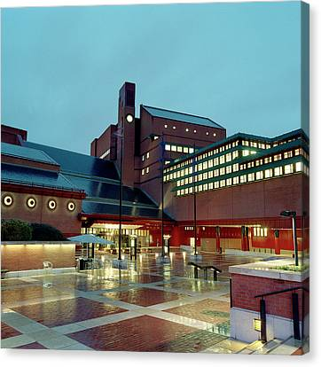 British Library Piazza Canvas Print by British Library