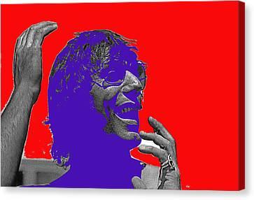 Broadway Joe Namath Telling Football Story C.c. And Co. Set Tucson Arizona 1970-2012 Canvas Print