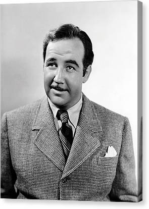Broderick Crawford Canvas Print by Silver Screen