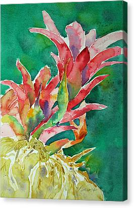 Canvas Print featuring the painting Bromeliad by Roger Parent